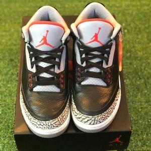 """2017 Air Jordan 3 """"Black Cement"""" Men 8"""